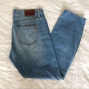 "Madewell 9"" High Rise Straight Leg Jean Light Wash"